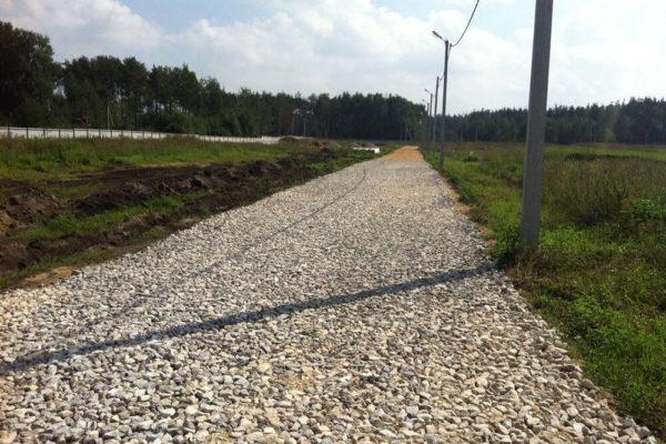Грунтовая дорога из щебня и гравия под ключ