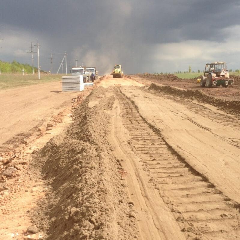 Строительство временных дорог, подъездные дороги под ключ